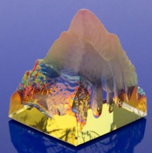 Mountain - Iridescent Rainbow Glass